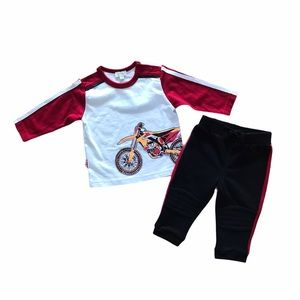 NEW baby Le Top motorcycle shirt pants outfit